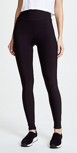 Plush - 高腰哑光绒布贴腿裤