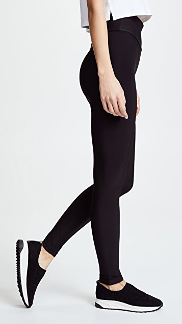 Plush High Waist Matte Fleece Leggings