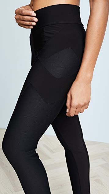 Plush Fleece Lined Athletic Gigi Mesh Leggings