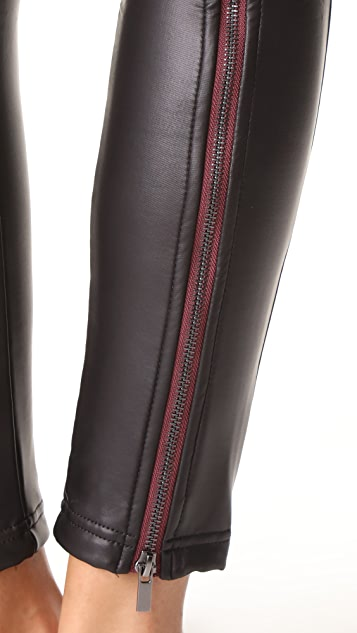 Plush Zippered Fleece Lined Liquid Leggings