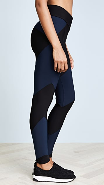 Plush Fleece Lined Contrast Leggings