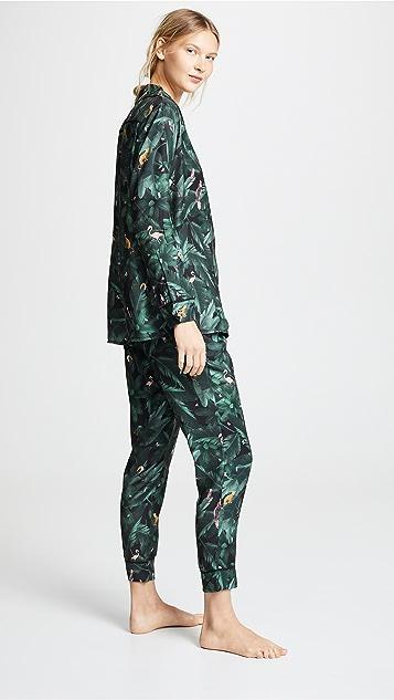 Plush Silky Jungle Print PJ Set