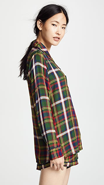 Plush Ultra Soft Woven PJ Set