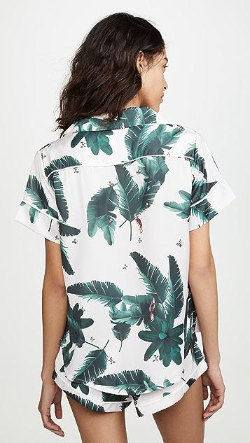 Plush 粉色丛林睡衣套装