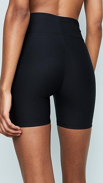 Plush Black Compression Shorts