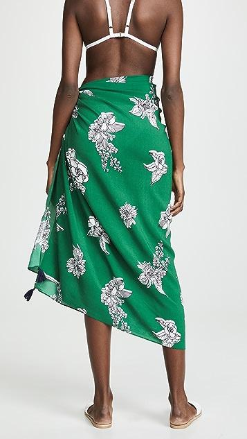 Plush 花卉印花包布裙