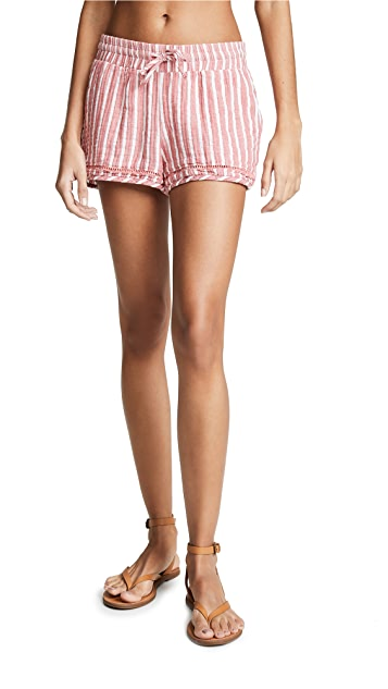 Plush Striped Shorts