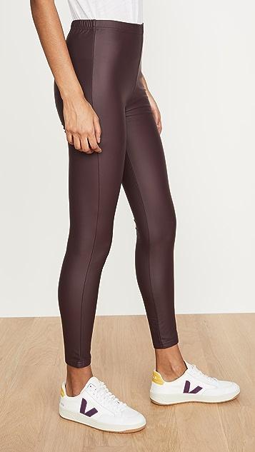 Plush 绒布衬里平滑贴腿裤