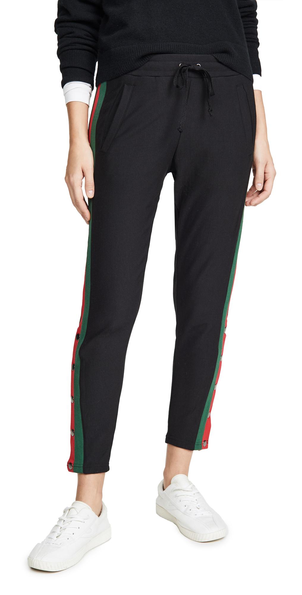 Plush Fleece Lined Tuxedo Track Pants