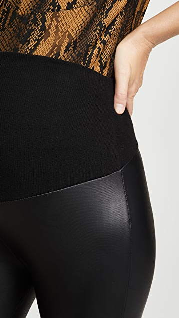 Plush Liquid Double Layer Over-Belly Leggings