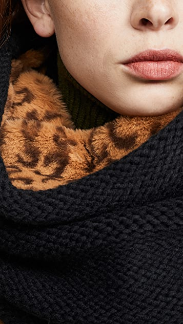 Plush Cheetah Neckwarmer