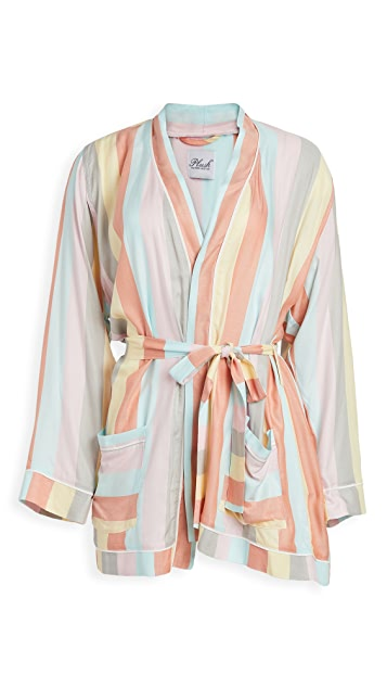 Plush Ultra Soft Rainbow Stripe Robe