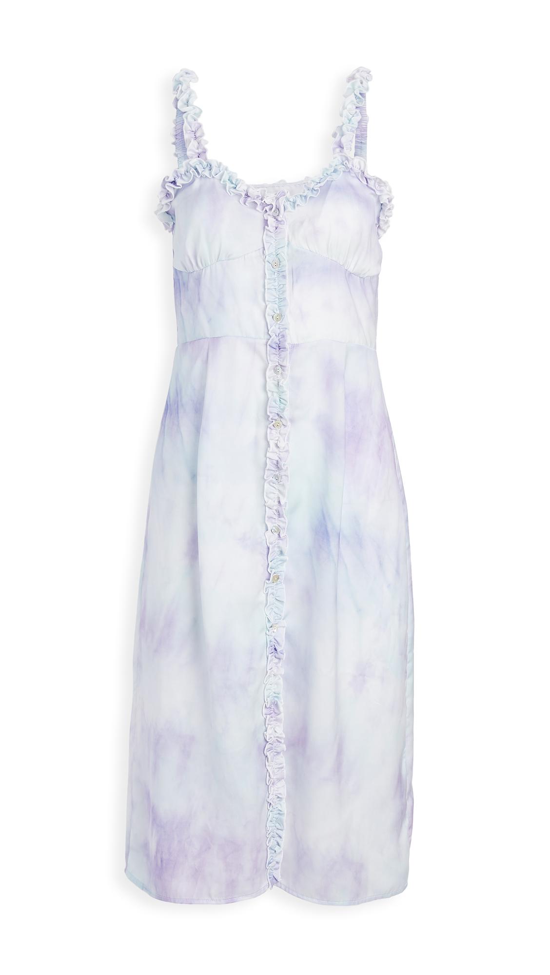 Plush Tie Dye Tank Dress