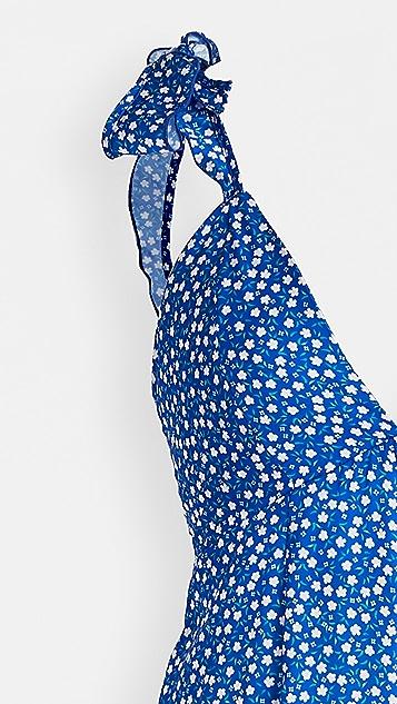 毛绒设计 花卉荷叶边连身衣