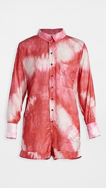 Plush Tie Dye Romper