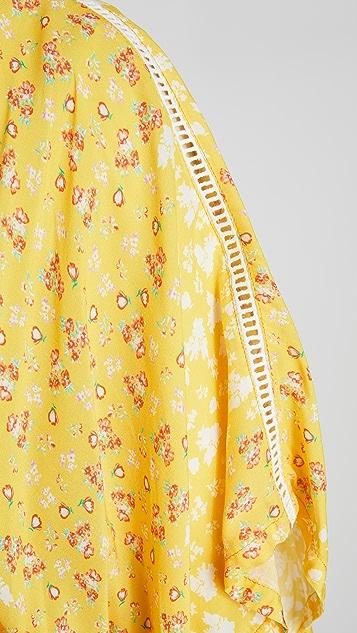 Plush Floral Kimono