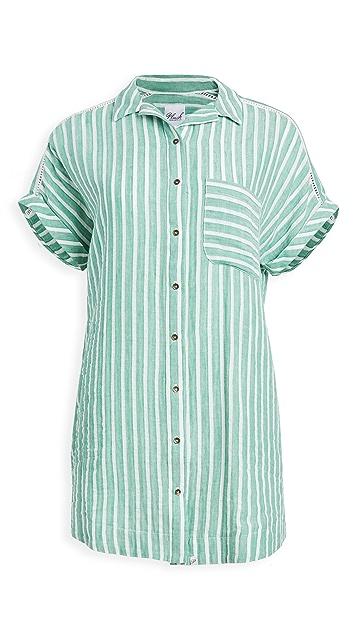 Plush Striped Linen Dress