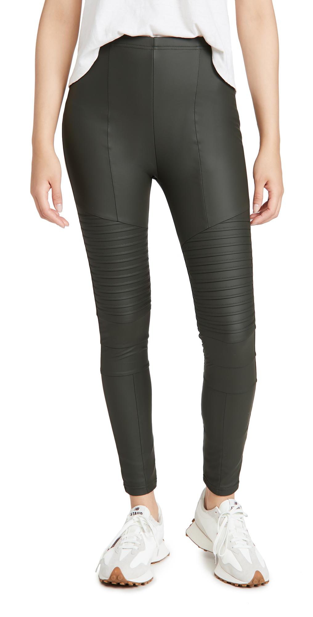 Plush Fleece Lined Moto Leggings
