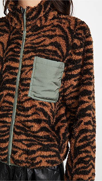 Plush Tiger Fleece Jacket
