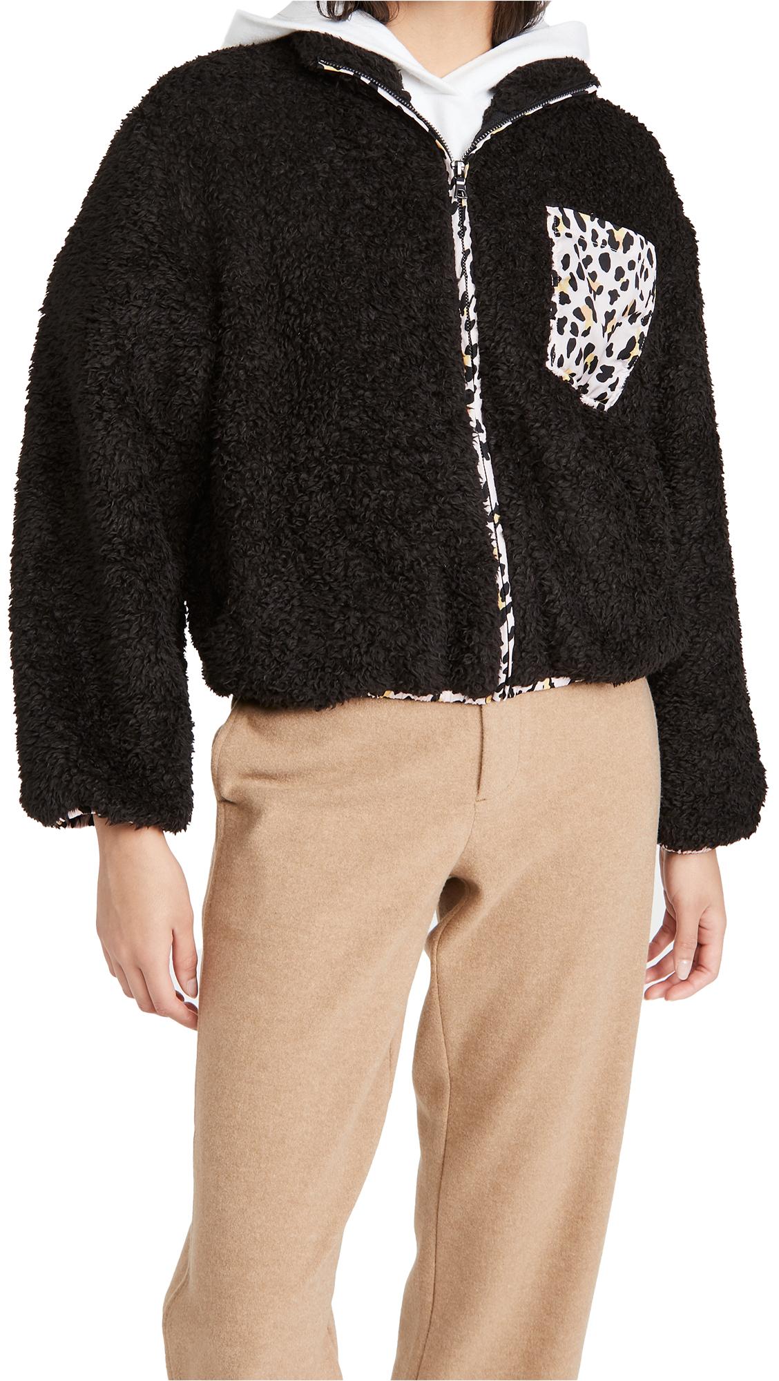 Plush Cheetah Fleece Jacket
