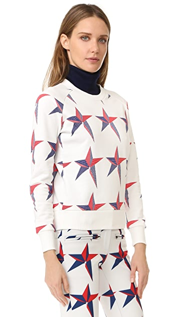 Perfect Moment Star Print Sweatshirt