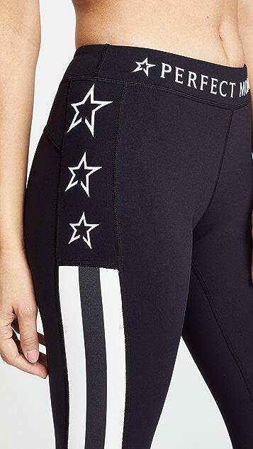 Perfect Moment Stripes Stars Leggings