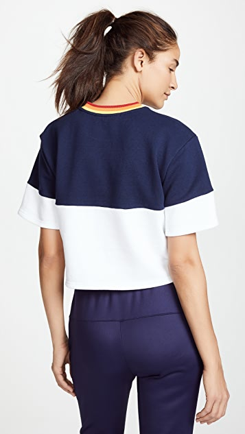 Perfect Moment Block Cropped Tee