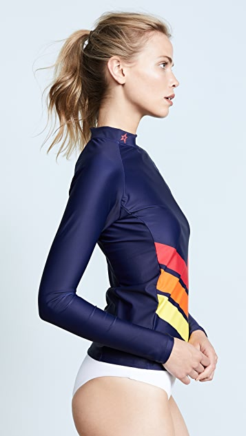 Perfect Moment Chevron Long Sleeve Rash Guard