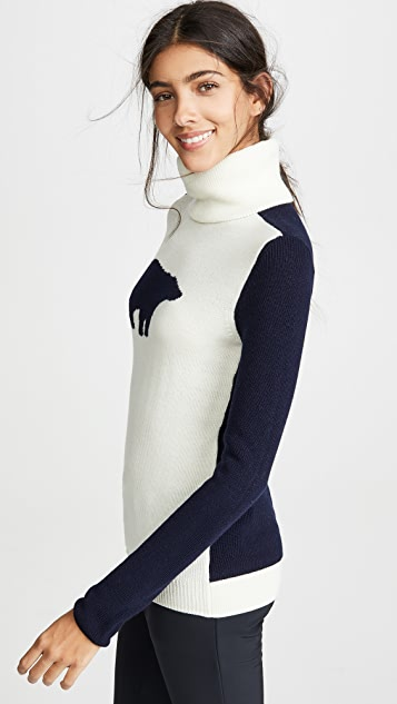 Perfect Moment Bear Wool Turtleneck Sweater