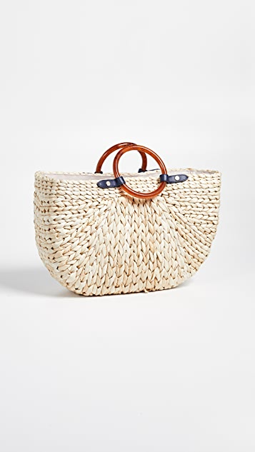 PAMELA MUNSON The Bimini Crescent Tote Bag