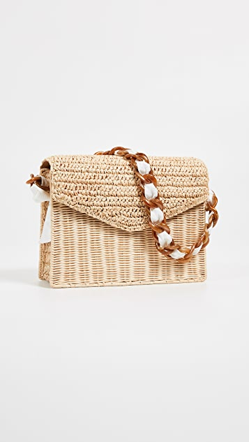PAMELA MUNSON Mixed Media Shoulder Bag