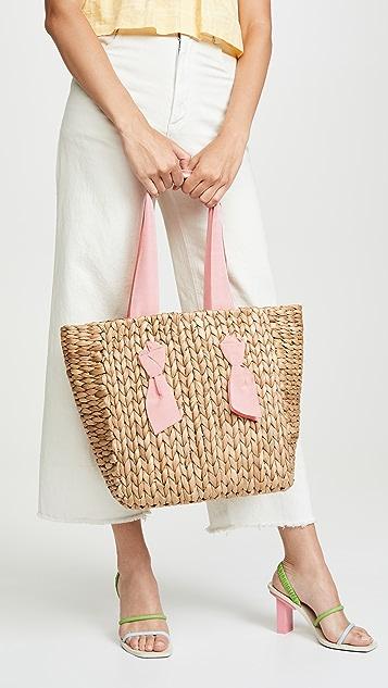PAMELA MUNSON Миниатюрная объемная сумка с короткими ручками Isla Bahia