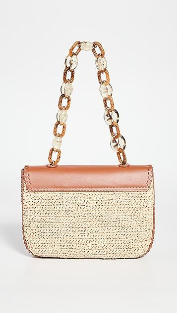 PAMELA MUNSON Las Olas Logo Shoulder Bag
