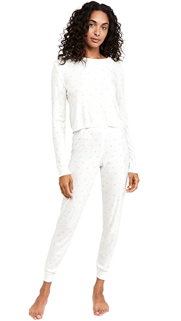 Polkadot England Parker Cropped Top + High Rise Joggers