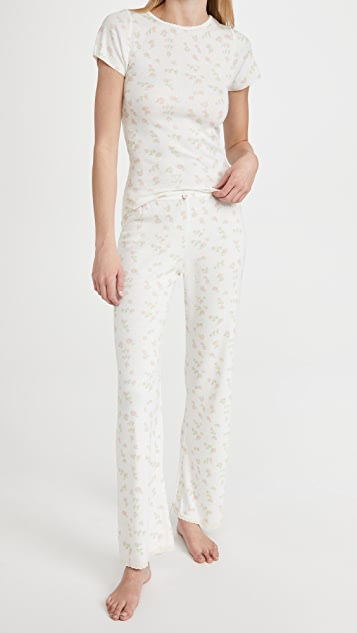 Polkadot England Val Short Sleeve Tee + Pants Pajama Set