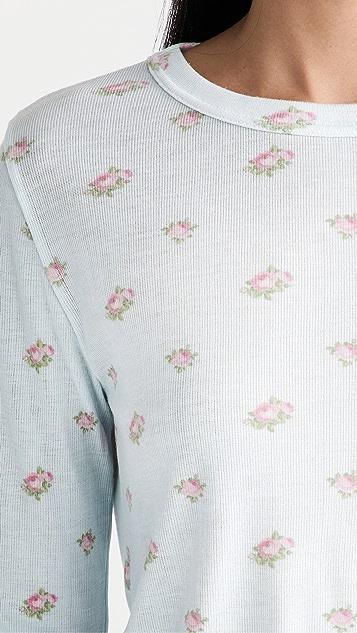 Polkadot England Floral Parker Crop + Joggers Set