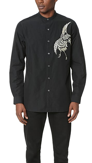 Ports 1961 Mandarin Collar Shirt