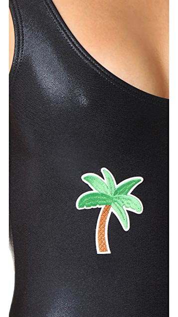 Private Party Palm Tree Metallic One Piece