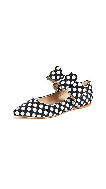 Polly Plume Обувь на плоской подошве Bonnie в стиле «Мэри Джейн» с бантом