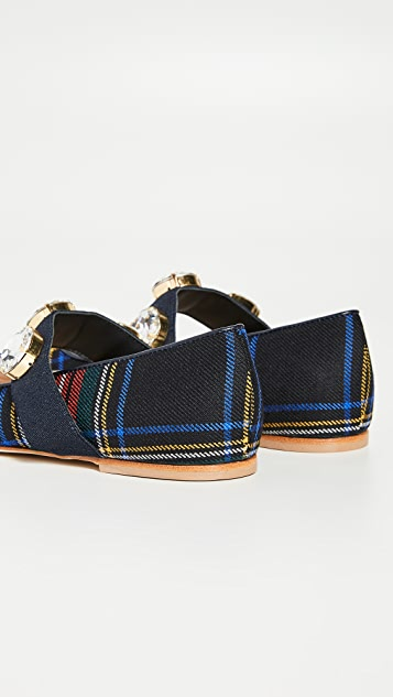 Polly Plume Обувь на плоской подошве Bonnie J в шотландскую клетку