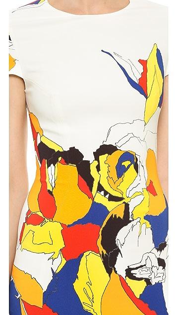 Prabal Gurung Short Sleeve Printed Dress