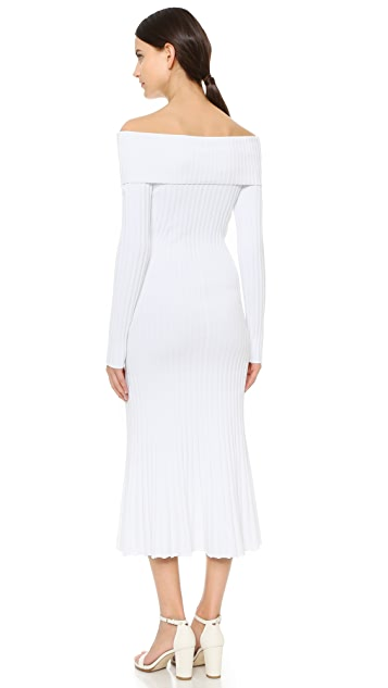 Prabal Gurung Off Shoulder Knit Dress
