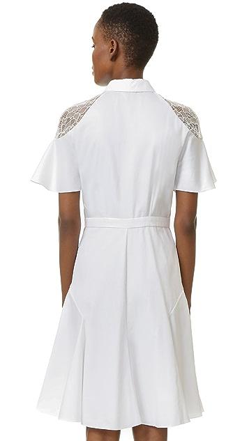 Prabal Gurung Shirtdress with Lace Shoulders