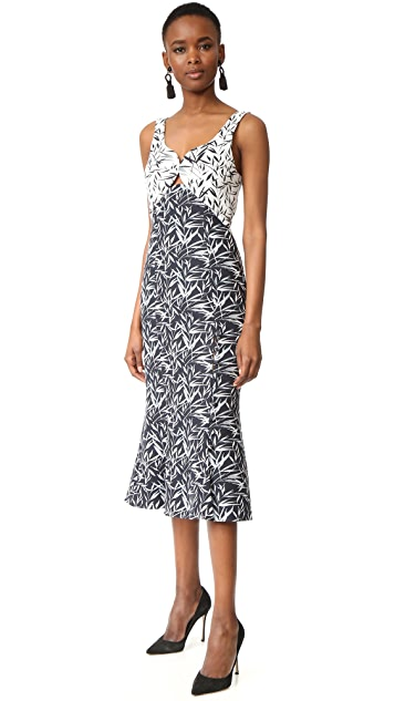 Prabal Gurung Sweetheart Midi Dress