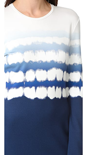 Prabal Gurung Long Sleeve Printed Dress