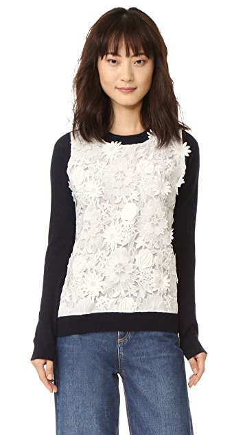 Prabal Gurung Long Sleeve Cashmere Sweater