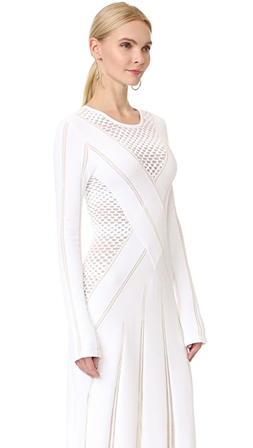 Prabal Gurung Long Sleeve Knit Dress