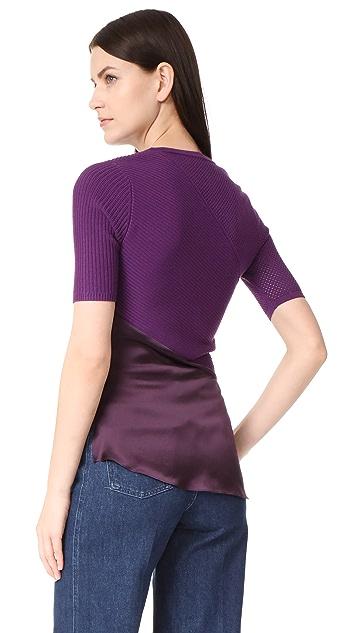 Prabal Gurung Short Sleeve Knit Top
