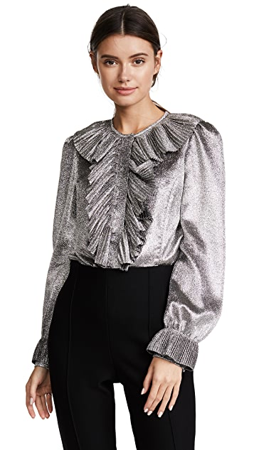 Prabal Gurung Pleated Blouse