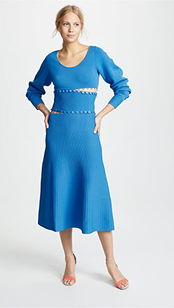 Prabal Gurung Kino Scoop Neck Convertible Knit Dress